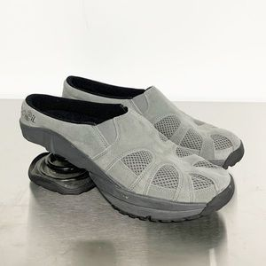 Z-Coil | Gray Suede Shock Orthotic Mules 9